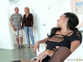 Step mom hires young slut