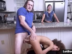 Big ass ebony babe Cecilia Lion gets doggystyle fucked