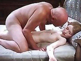 Aline Marmars old dildo fucking young slut mothers hard cock