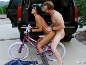 Hot Bitch On A Bike Breanne Benson Rides Cock In The Back Of Ryans Car