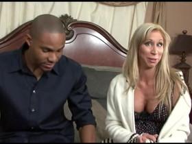 Hungry cougar Morgan Ray bonked hard by a horny black dude