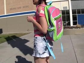 WANKZ- Hot Emo Schoolgirl Alexis Eats Her Teacher's Spunk